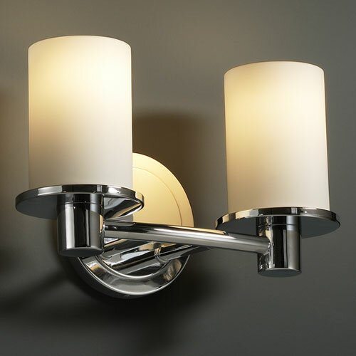Justice Design Group Fusion Rondo 2 Light Bath Vanity Light & Reviews