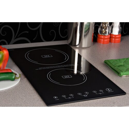 2 Burner Electric Cooktop ~ Summit appliance quot electric induction cooktop with