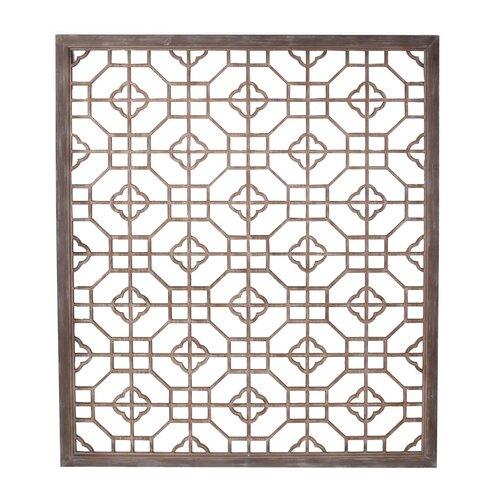 privilege wooden screen panel wall d cor reviews wayfair. Black Bedroom Furniture Sets. Home Design Ideas