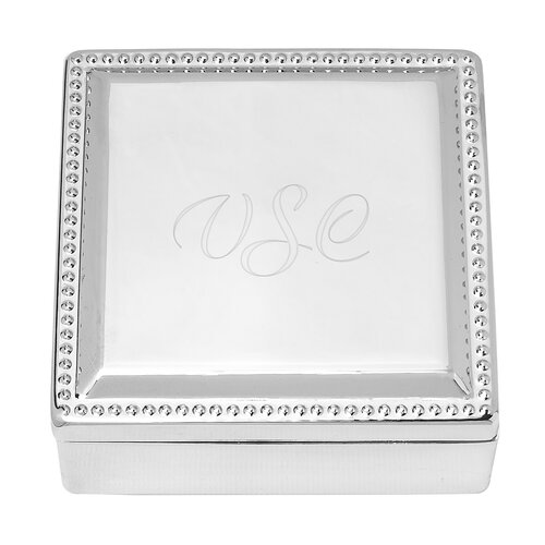 Personalized Square Jewelry Box by Cathys Concepts