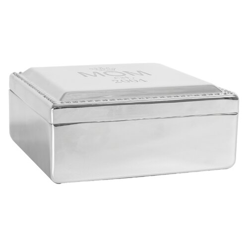 Personalized Mother's Day Silver Square Jewelry Box by Cathys Concepts