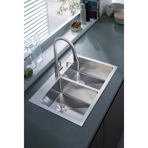 "Stufurhome 33"" X 22"" Overmount Kitchen Sink & Reviews"