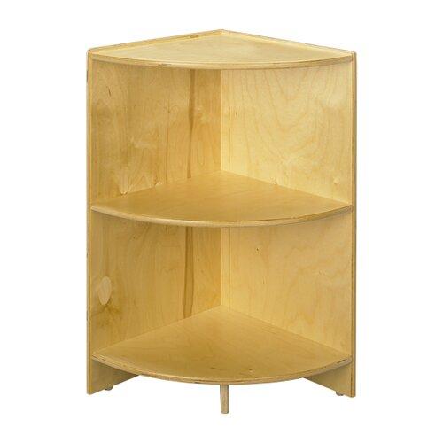 """A&E Wood Designs Cubbie 36"""" Curved Shelf  Corner 36""""High in Natural"""