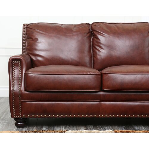 Leather Sofas Reviews: Abbyson Living Bel Air Leather Sofa & Reviews