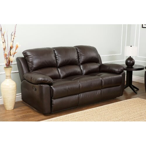 abbyson living westwood 3 piece leather reclining living room set