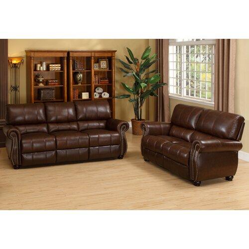 houston italian leather sofa  loveseat and armchair set