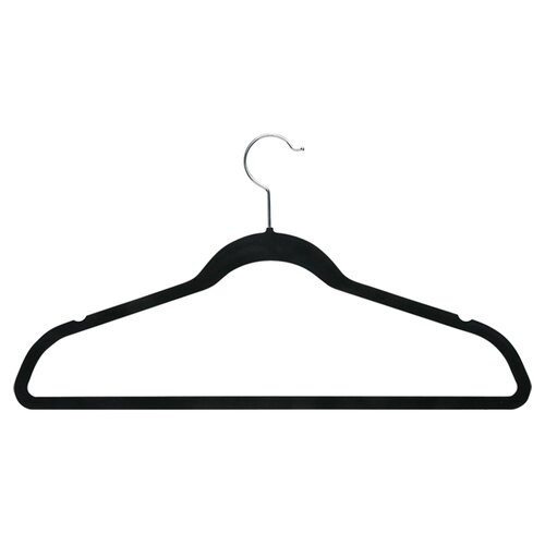 Honey Can Do Velvet Touch Suit Hanger in Black (Set of 50)