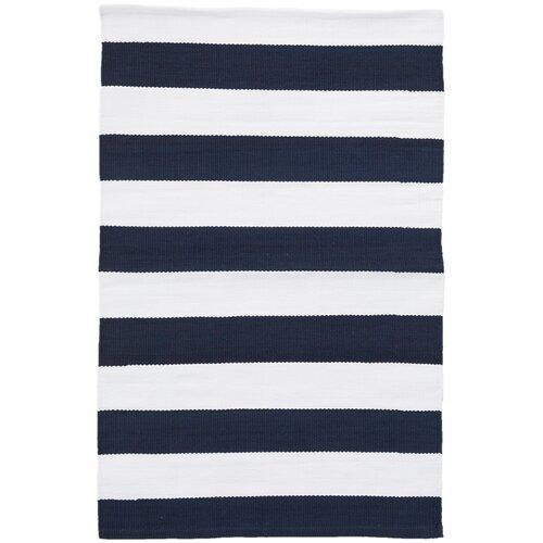 dash and albert rugs catamaran stripe navy white indoor outdoor area rug reviews wayfair. Black Bedroom Furniture Sets. Home Design Ideas