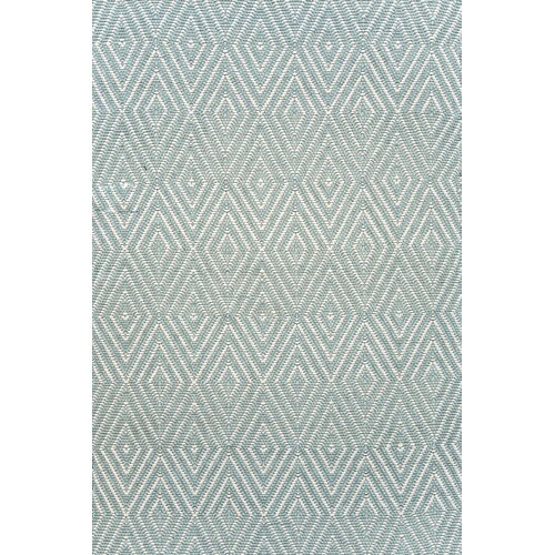 Dash and Albert Rugs Diamond Light Blue & Ivory Indoor