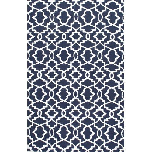 Shop Nuloom Indoor Outdoor Moroccan Trellis Rug: Moroccan Trellis Blue Indoor/Outdoor Area Rug