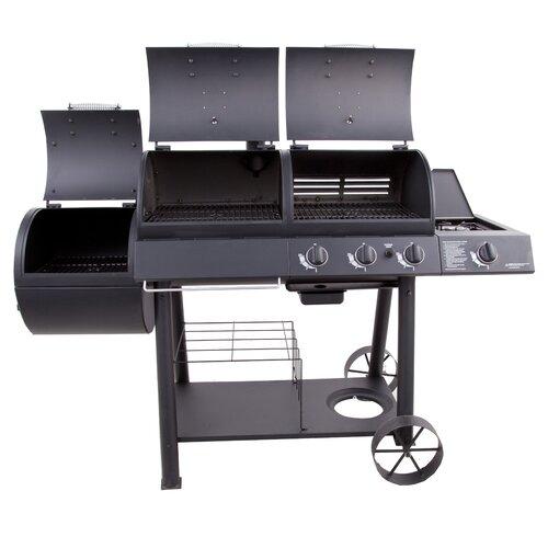 oklahoma joe 39 s charcoal smoker and grill wayfair. Black Bedroom Furniture Sets. Home Design Ideas