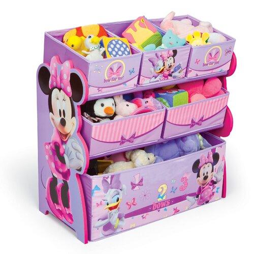 Minnie Mouse Bedroom 3 Drawer Storage Kids Wooden Box Pink: Delta Children Minnie Mouse Multi-Bin Toy Organizer