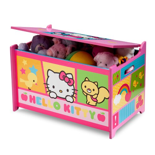 Hello Kitty Toy Chest : Delta children hello kitty toy box reviews wayfair