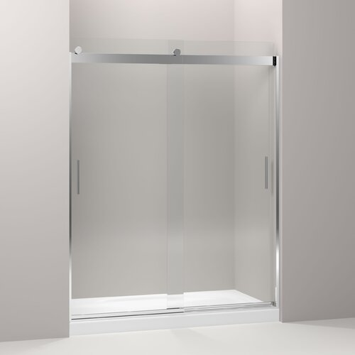 Trident Mocha 76 Quot X 60 Quot Sliding Shower Door Wayfair