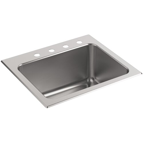 Ballad Top-Mount Utility Sink with 4 Faucet Holes by Kohler