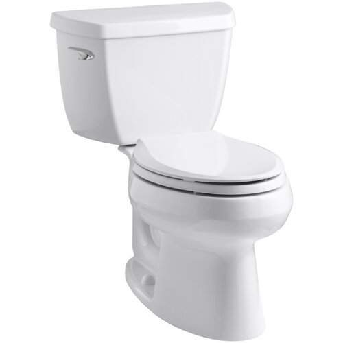 Toilet Flush Cover : Wellworth classic two piece elongated gpf toilet with