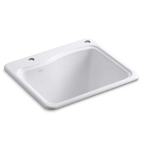 River Falls Top-Mount Utility Sink with 2 Faucet Holes - One-Hole On Deck On The ...