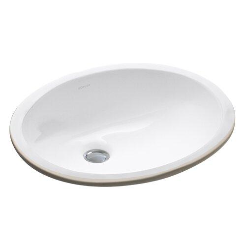 "Kohler Caxton 15"" x 12"" Undermount Bathroom Sink with ..."
