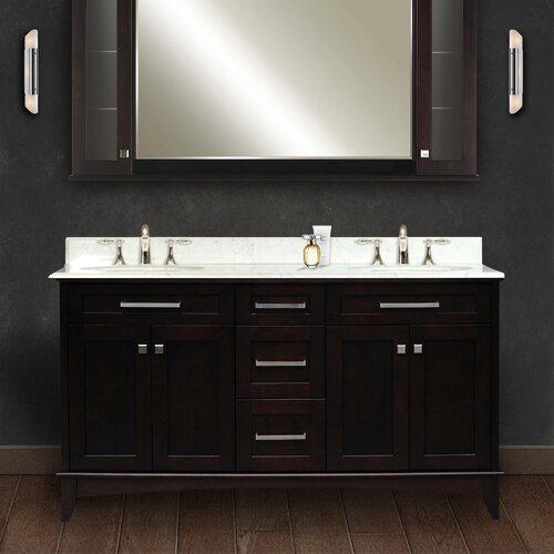manhattan 60 double standard bathroom vanity set manhattan