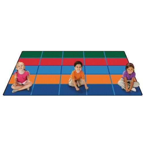 Classroom Rugs Amazon: Value Plus Color Blocks Area Rug