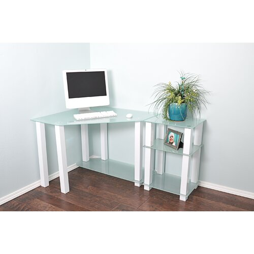 White Lines Corner Computer Desk With Right Extension