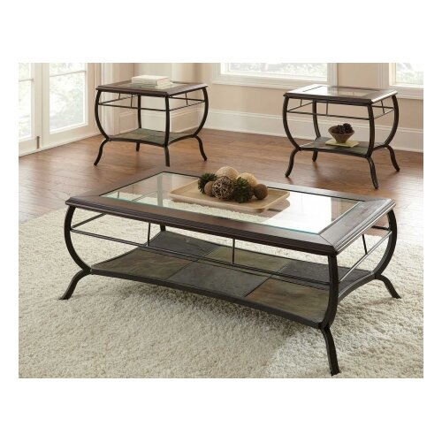 steve silver furniture loretta coffee table set reviews wayfair. Black Bedroom Furniture Sets. Home Design Ideas
