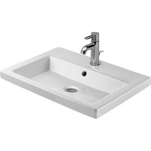 2nd Floor Drop In Porcelain Bathroom Sink with Overflow by Duravit