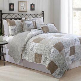Chester 6 Piece  quilt ligt in Multi