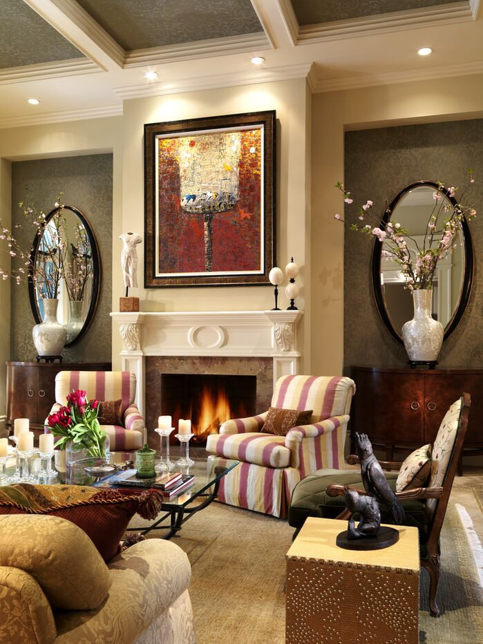 Traditional Living Room photo by B. Pila Design Studio