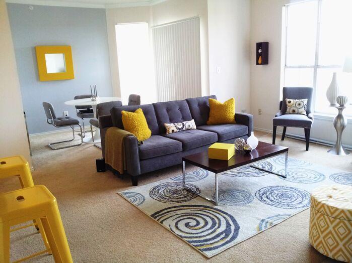 Modern Living Room photo by Tiffany Eden Design