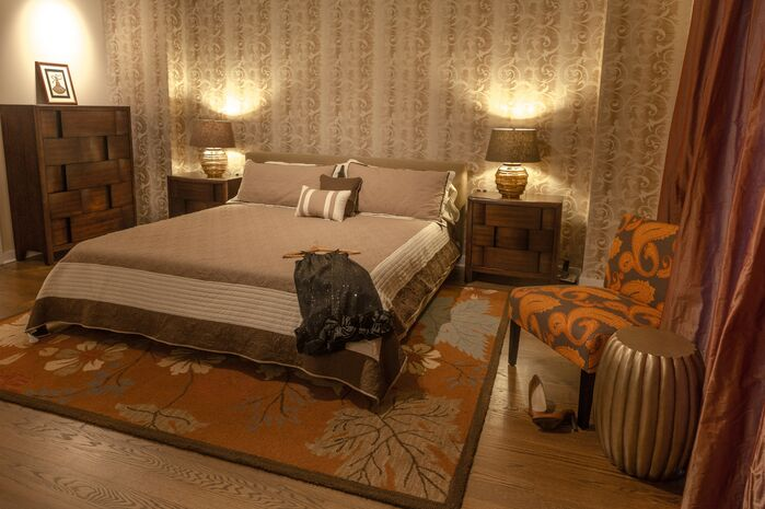 Traditional Bedroom photo by Marie Burgos Design