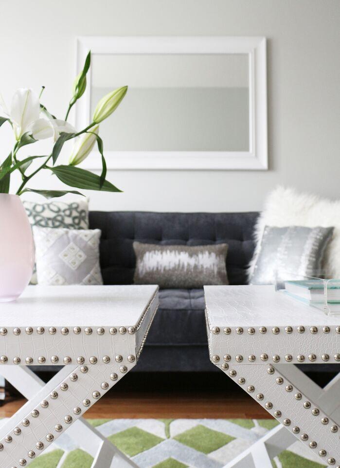 Glam Living Room photo by Victoria Elizabeth Design
