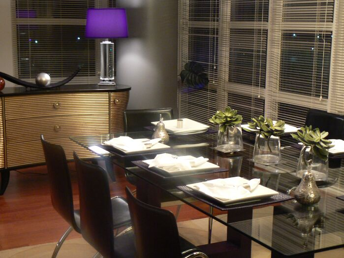 Contemporary Dining Room photo by Panache Interior decorating