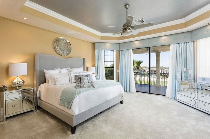 Glam Bedroom photo by Florida Furniture Packages