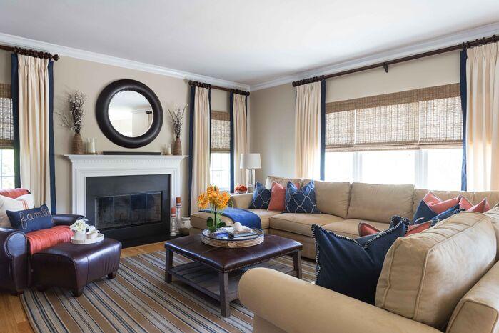 Coastal Living Room photo by Jeanne Campana Design