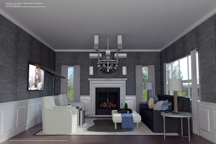 Living Room photo by Paula Caponetti Designs LLC