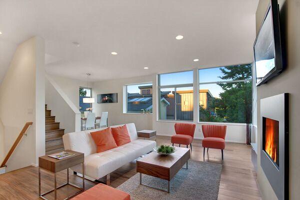 Modern Living Room photo by AlliJay Interiors