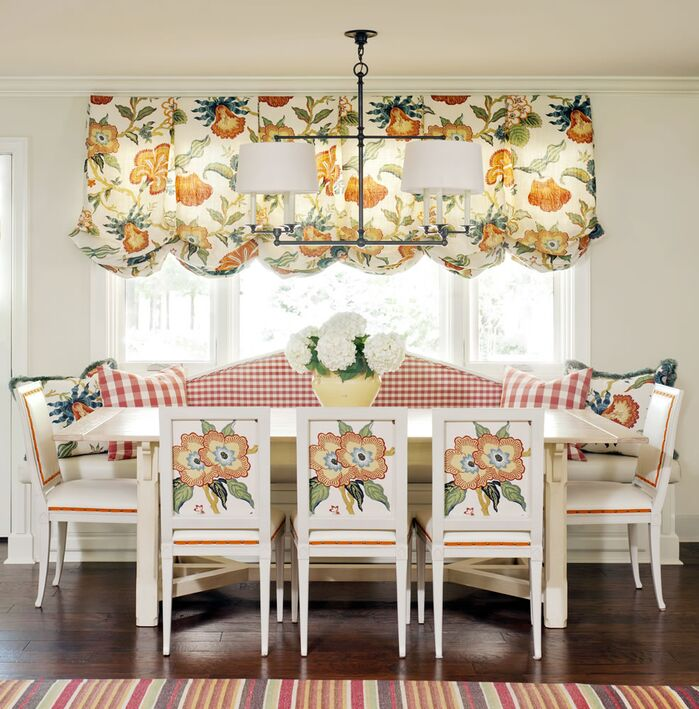 Cottage/Country Dining Room photo by Tobi Fairley Interior Design