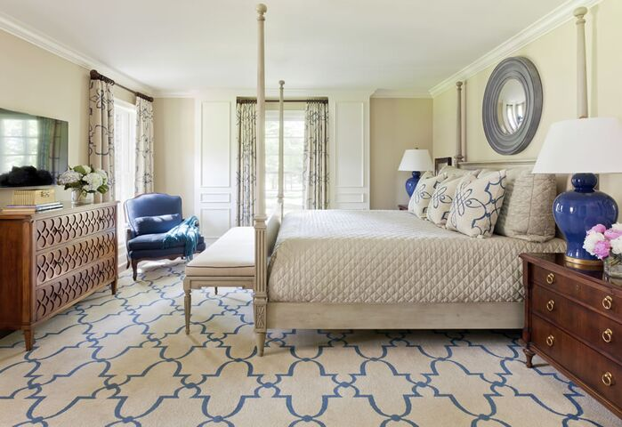 Traditional Bedroom photo by Tobi Fairley Interior Design