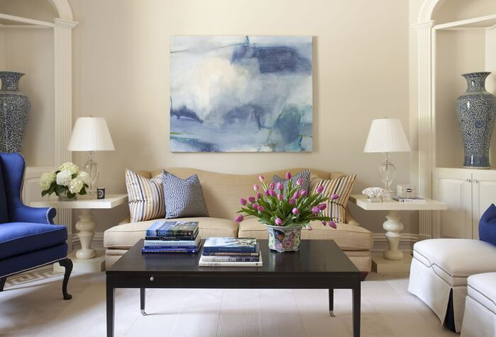 Traditional Living Room photo by Tobi Fairley Interior Design