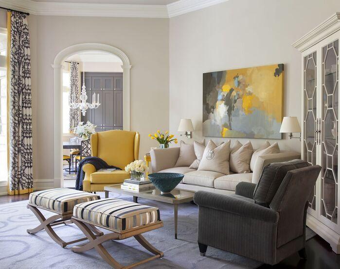 Contemporary Living Room photo by Tobi Fairley Interior Design