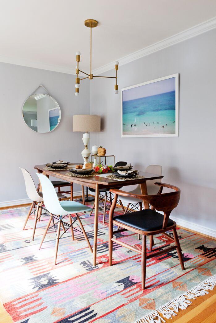 Boho Dining Room photo by Veneer Designs