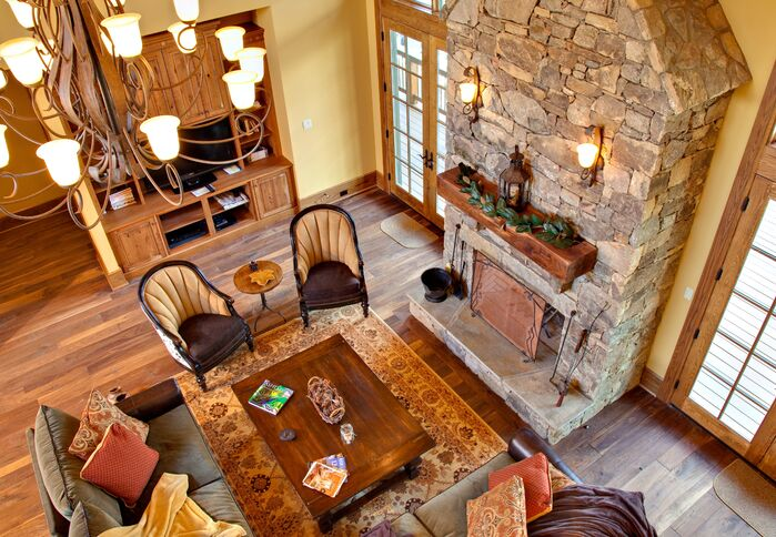 Rustic Living Room photo by ACM Design
