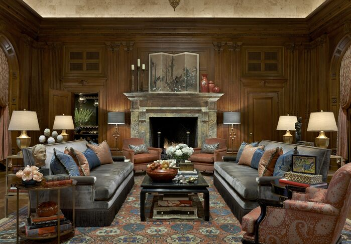 Traditional Living Room photo by Jessica Lagrange Interiors