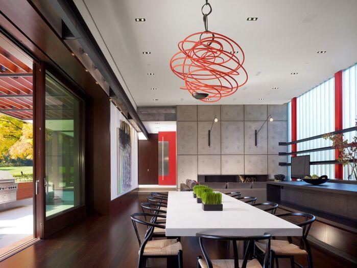 Modern Dining Room photo by Jessica Lagrange Interiors