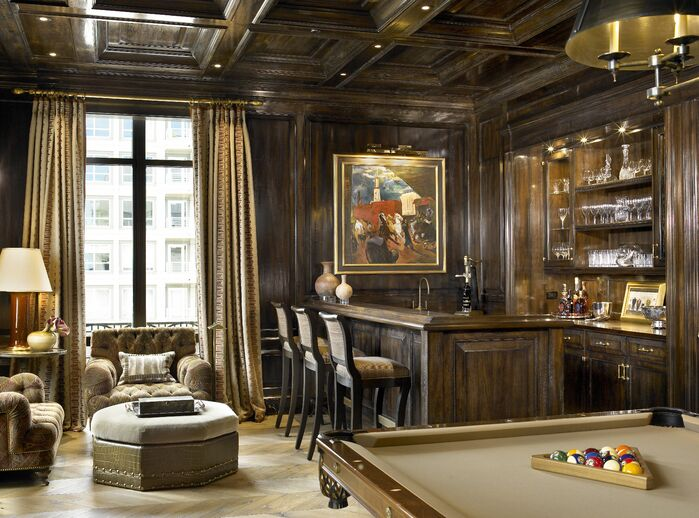 Traditional Game/Rec Room photo by Jessica Lagrange Interiors