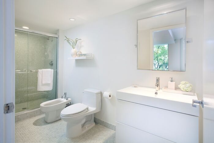 Modern Bathroom photo by DKOR Interiors