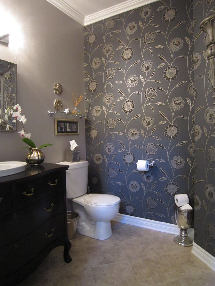 Traditional Bathroom photo by Lisa Goulet Design
