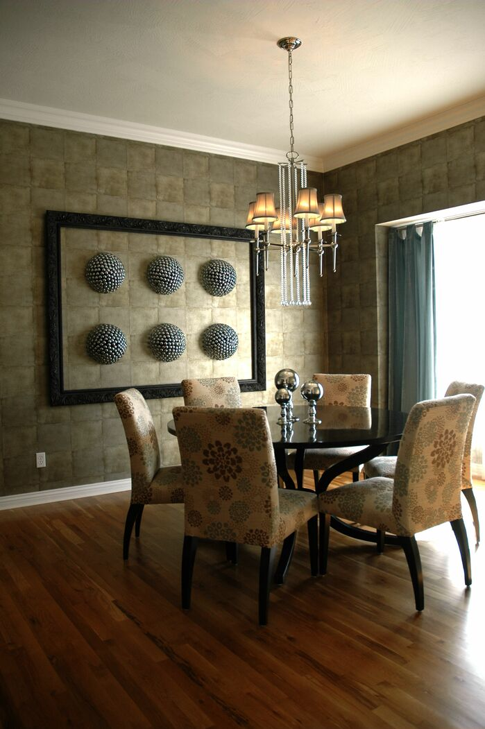 Contemporary Dining Room photo by Gina McMurtrey Interiors LLC