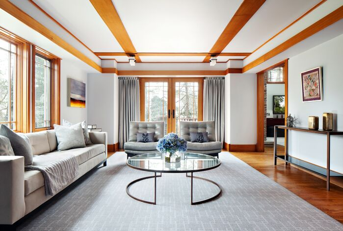 Contemporary Living Room photo by Clean Design Partners